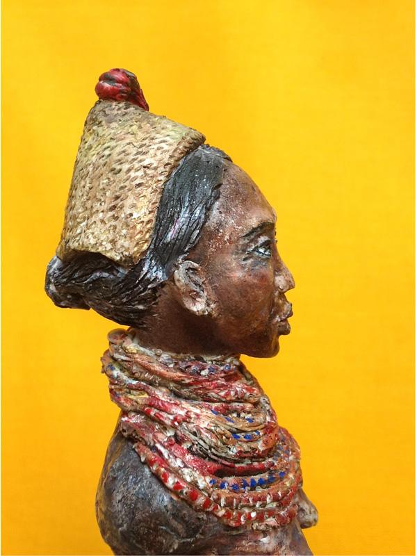 """Sculpture """"Hagavolk Frau"""" by Hatalia Franzke Shamne . Handmade item"""